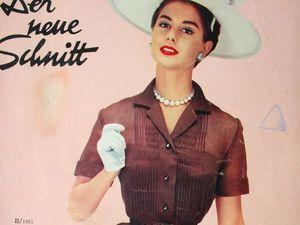 Schwabe der neue Schnitt — журнал мод 8/1957. Ярмарка Мастеров - ручная работа, handmade.