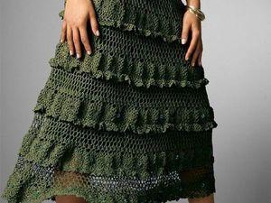 Вязаная юбка — юбка для смелых. Ярмарка Мастеров - ручная работа, handmade.