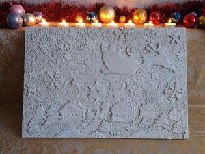 Создаем новогоднее панно из декоративной штукатурки. Ярмарка Мастеров - ручная работа, handmade.