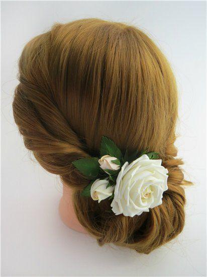 цветы в причёску