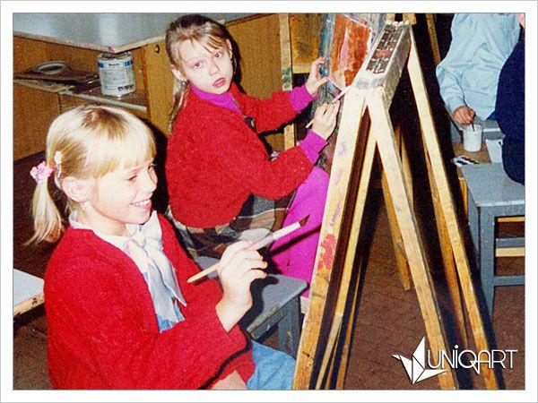 уроки рисования, творческая студия, атмосфера творчества, краски