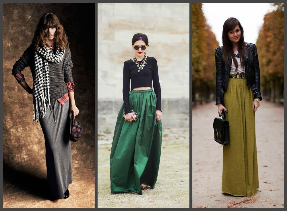 the floor-length skirt