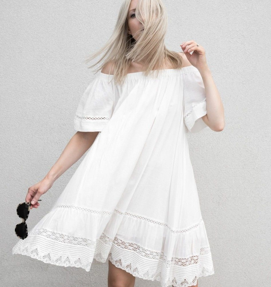 Белое бохо, или Шикарная одежда для королевы летнего пляжа, фото № 124
