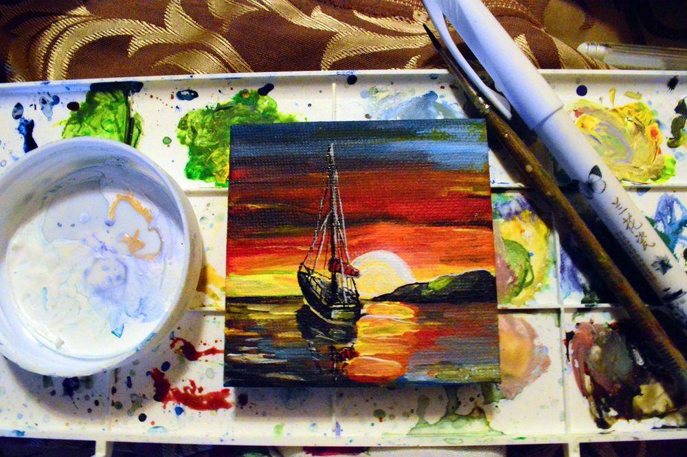 мастер-класс по рисованию, миниатюрная живопись