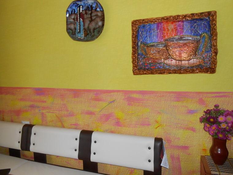 декор интерьера, покраска обоев