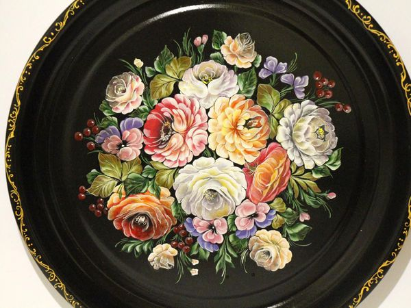 Рисуем цветы в технике жостовской росписи   Ярмарка Мастеров - ручная работа, handmade