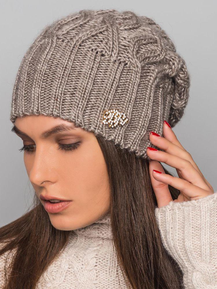 Объемная шапка вязаная спицами женская схема фото 87