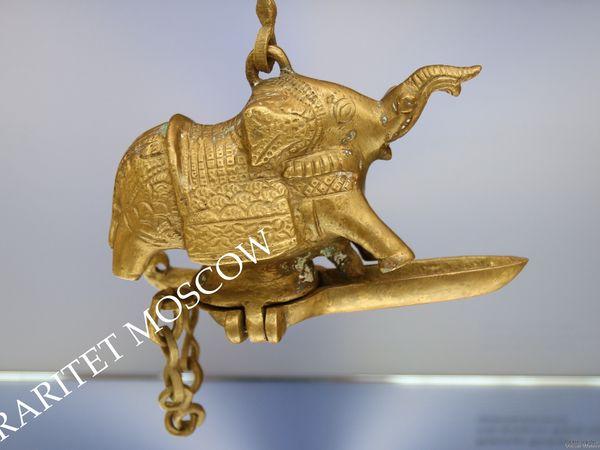 РЕДКОСТЬ Ключница слон павлин бронза латунь 4 | Ярмарка Мастеров - ручная работа, handmade