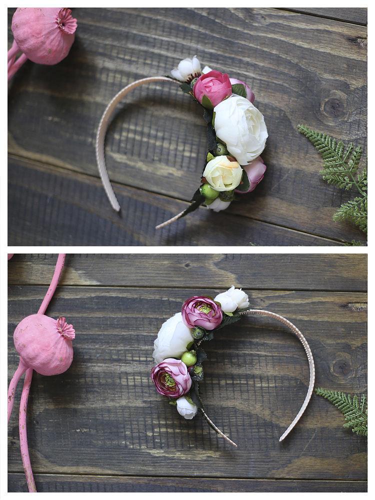 ободок, повязка с цветами