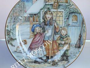 Тарелка Рождество A Christmas Carol Англия 92г 74. Ярмарка Мастеров - ручная работа, handmade.