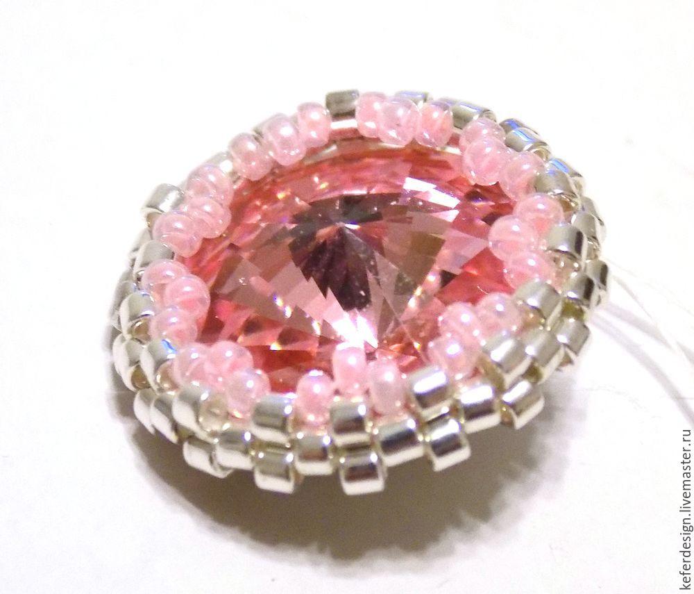 Серьги ручной работы «Цветущая сакура» из кристаллов Swarovski: процесс создания, фото № 4