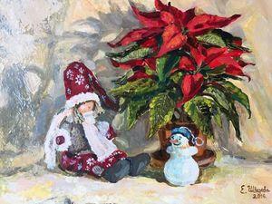 Анонс аукциона! Картина маслом — Рождественская звезда. Ярмарка Мастеров - ручная работа, handmade.