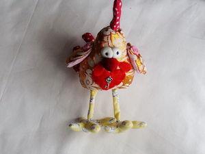 Шьем новогодний сувенир — забавного текстильного Петушка | Ярмарка Мастеров - ручная работа, handmade