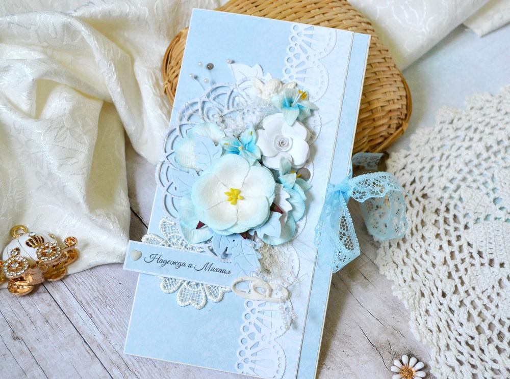 Свадебная открытка для денег скрапбукинг 56