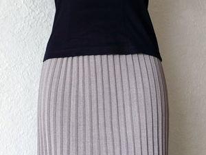 Мастер-класс: юбка плиссе на вязальной машине 5-го класса. Ярмарка Мастеров - ручная работа, handmade.