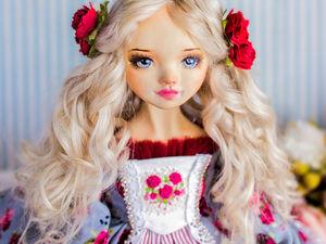 Генриетта авторская кукла, интерьерная коллекционная кукла. Ярмарка Мастеров - ручная работа, handmade.