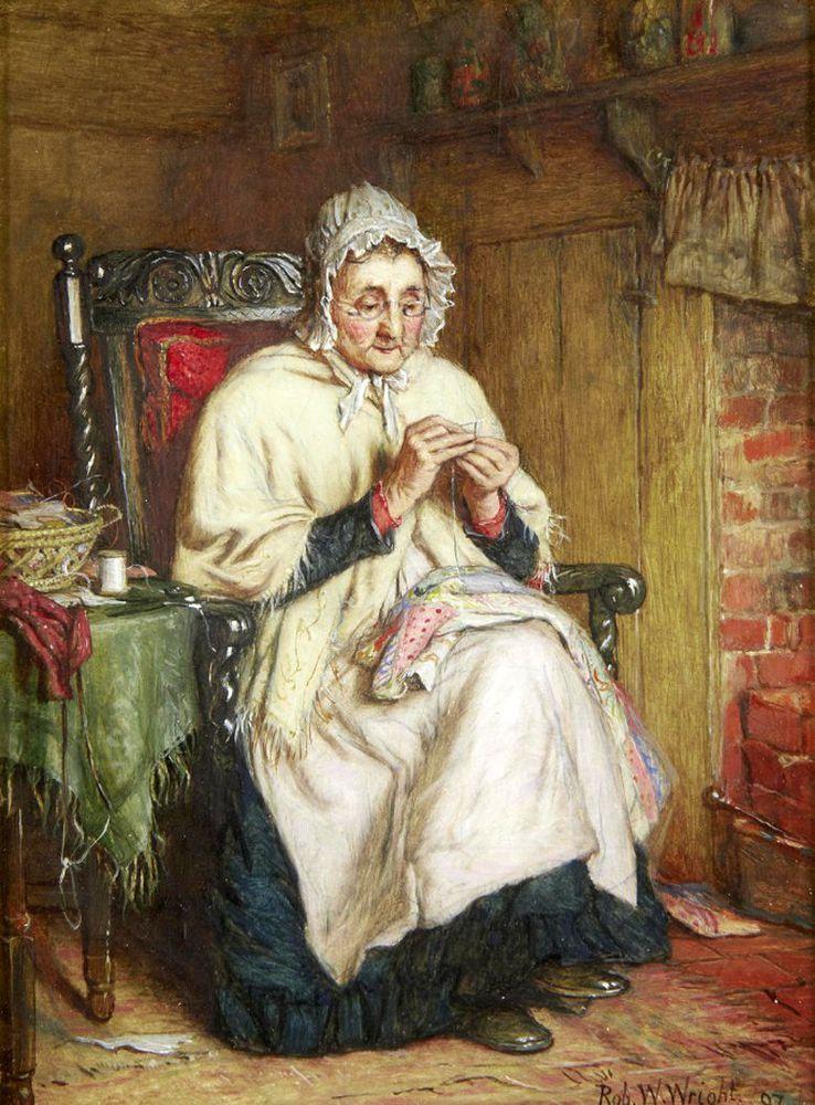 Когда есть чем заняться — стареть некогда: душевные картины о бабушках-рукодельницах, фото № 5