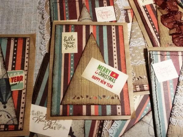 Новогодние открытки в подарок ))) | Ярмарка Мастеров - ручная работа, handmade