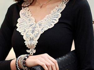 Преображаем одежду вязаными деталями. Ярмарка Мастеров - ручная работа, handmade.