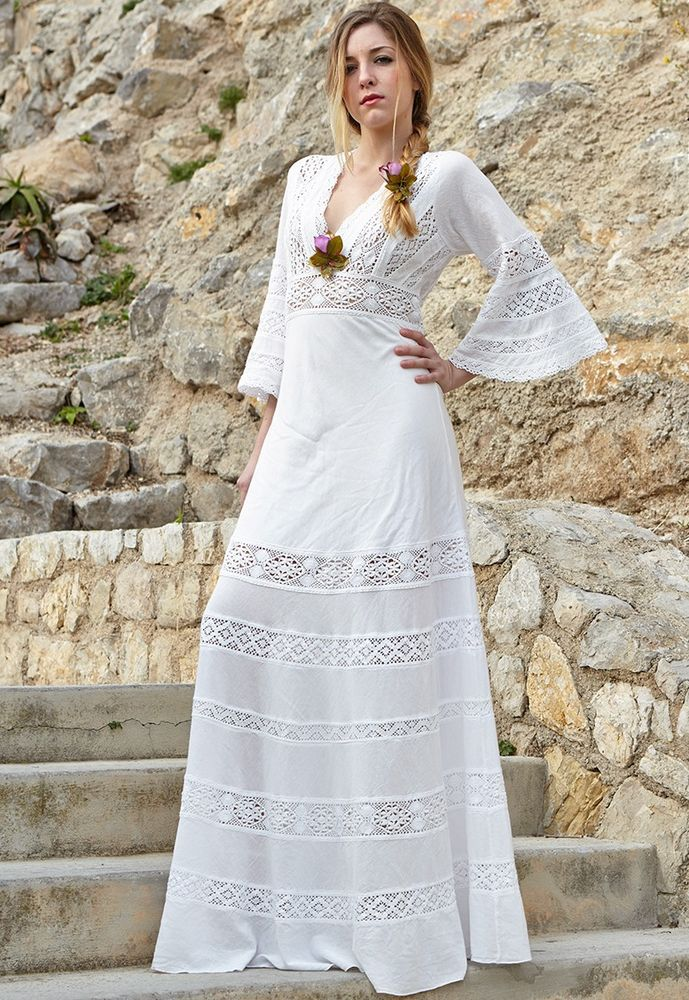 Белое бохо, или Шикарная одежда для королевы летнего пляжа, фото № 81