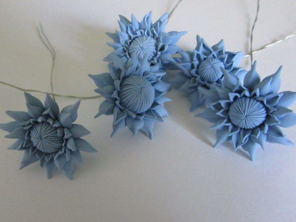 Лепим хризантемы из полимерной глины | Ярмарка Мастеров - ручная работа, handmade
