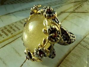 Скидка 30% Крупное кольцо  «Солнечная долина». Ярмарка Мастеров - ручная работа, handmade.