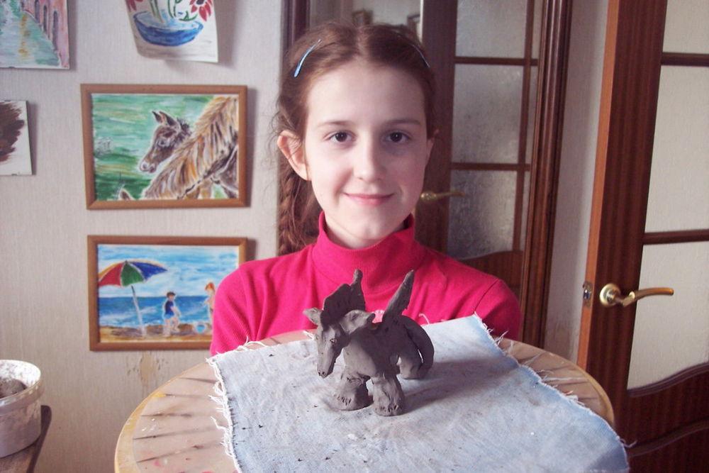 занятия для детей, лепка из природной глины
