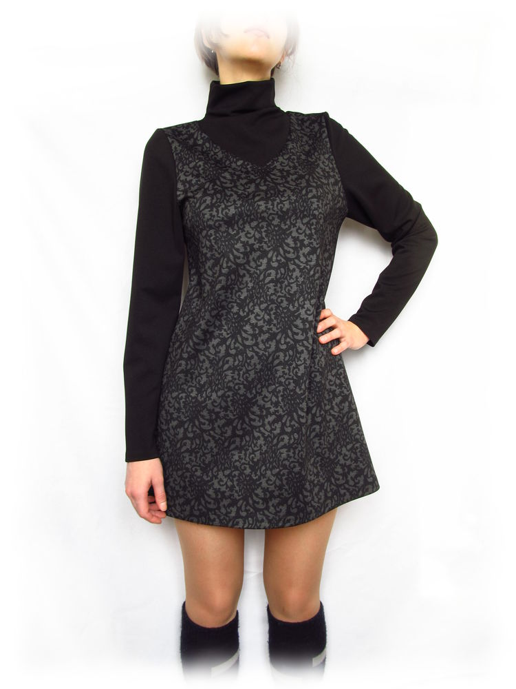 мини-платье, черное мини-платье