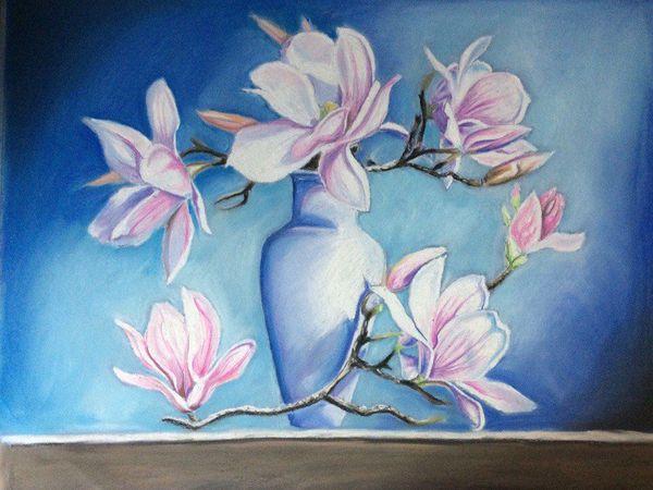 Рисуем пастелью магнолию | Ярмарка Мастеров - ручная работа, handmade