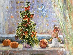Зима и ее праздники — новинки магазина, картины маслом!. Ярмарка Мастеров - ручная работа, handmade.