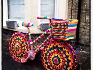 «Велосипедное» вязание: как украсить любимое средство передвижения с помощью спиц и крючка. Ярмарка Мастеров - ручная работа, handmade.