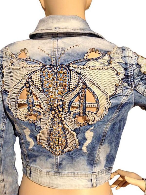 Многообразный декор джинсовых курток: 50 интересных вариантов, фото № 47