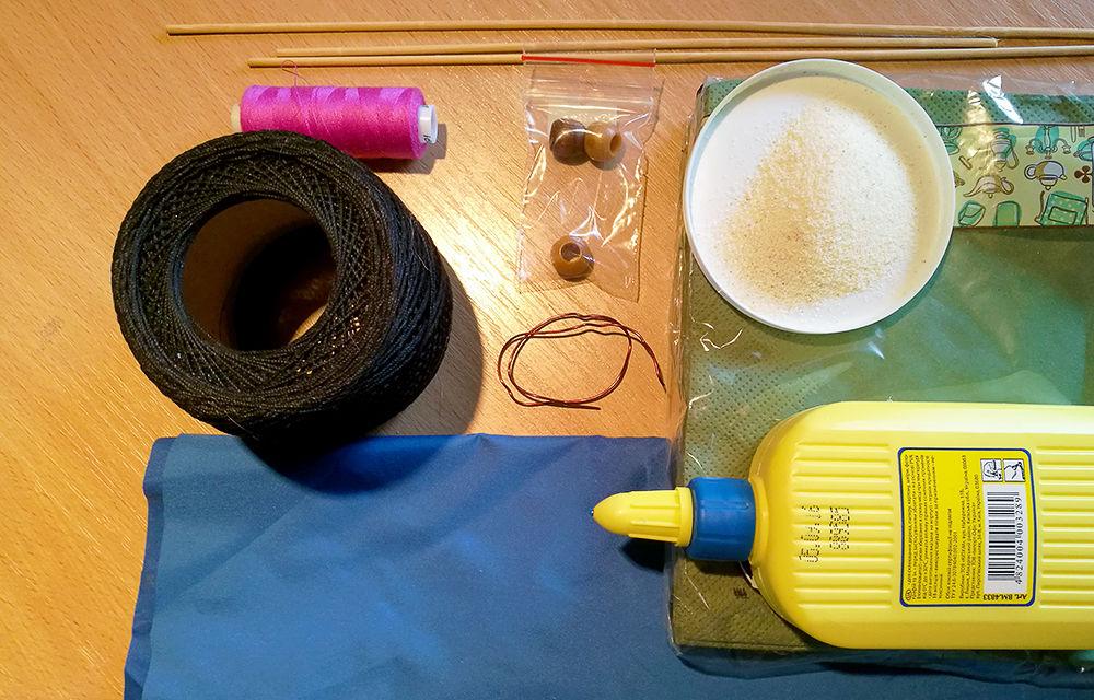 Делаем букет васильков из подручных материалов, фото № 1