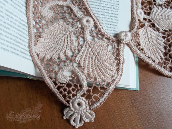 Воротник ирландским кружевом № 3 | Ярмарка Мастеров - ручная работа, handmade