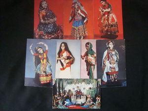 Этнические куклы в  индийских нарядах. Комплект советских открыток.   Ярмарка Мастеров - ручная работа, handmade