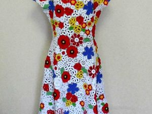 """Новая работа — Платье из хлопка """"Анита"""" в технике ирландское кружево. Ярмарка Мастеров - ручная работа, handmade."""
