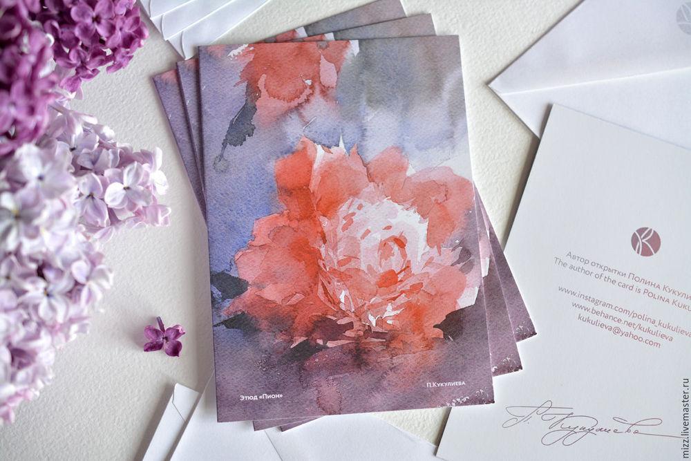 Бизнес открытки с цветами