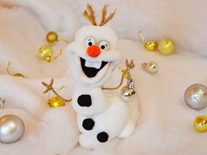 Видео мастер-класс: снеговик Олаф в чулочной технике. Ярмарка Мастеров - ручная работа, handmade.