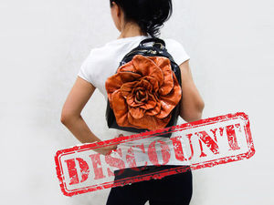 Аукцион на кожаные рюкзаки-цветы! ЗАВЕРШЕН. Ярмарка Мастеров - ручная работа, handmade.