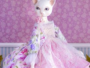 Кошечка  Libby  авторская коллекционная интерьерная кукла подвижная кукла. Ярмарка Мастеров - ручная работа, handmade.