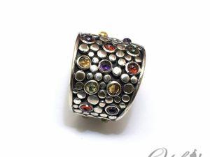 Кольца Витражи с различными камнями (видео). Ярмарка Мастеров - ручная работа, handmade.