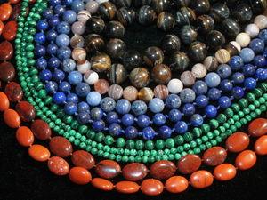 Акция! Скидки от 10 до 30% на бусины из натуральных камней до. Ярмарка Мастеров - ручная работа, handmade.