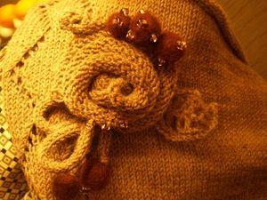 Вяжем спицами розу для декора. Ярмарка Мастеров - ручная работа, handmade.