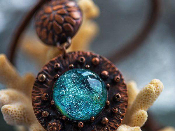 Пайка кулона из меди или латуни с камнем   Ярмарка Мастеров - ручная работа, handmade