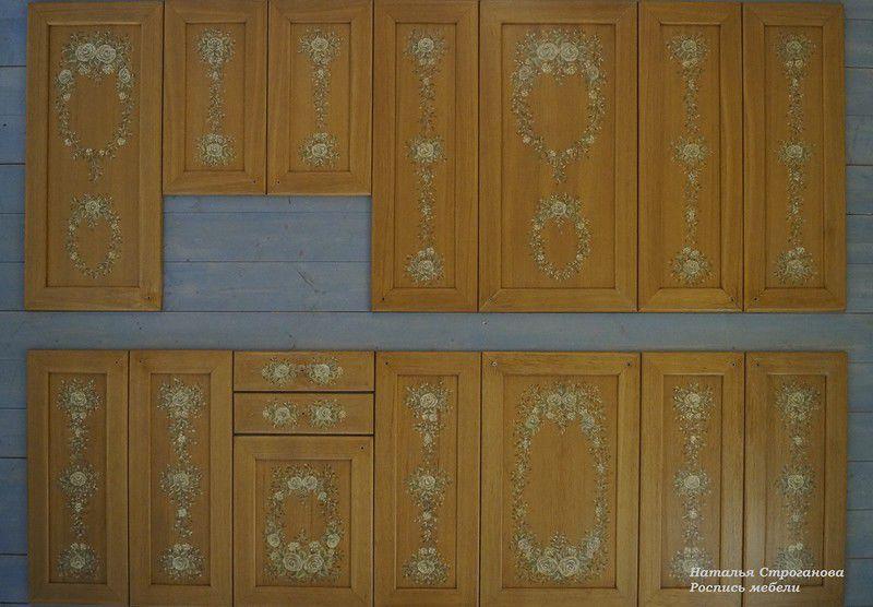 роспись кухни, мебель с росписью, строганова наталья