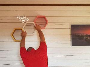 Как повесить на стену полку соту. Ярмарка Мастеров - ручная работа, handmade.
