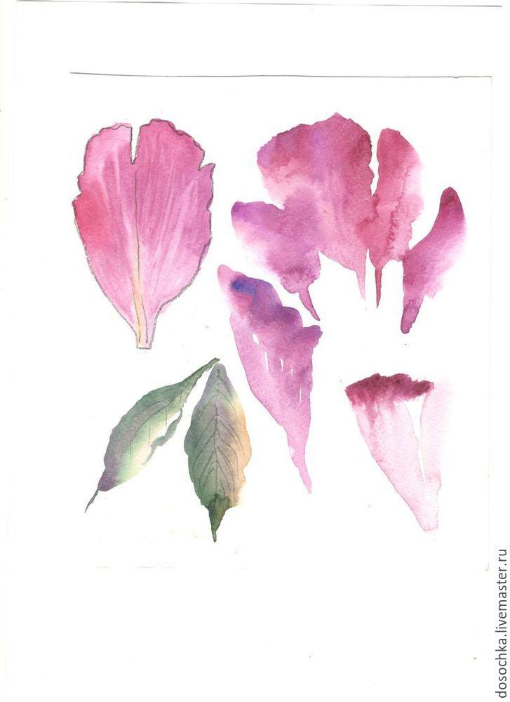 урок живописи, ботаническая живопись, декоративный рисунок, декоративная живопись