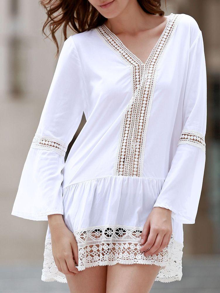 Белое бохо, или Шикарная одежда для королевы летнего пляжа, фото № 38