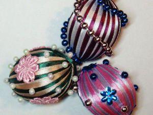 Декорируем пасхальное яйцо атласными лентами. Ярмарка Мастеров - ручная работа, handmade.