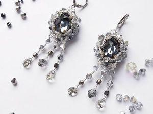Оплетение кристалла Swarovski. Ярмарка Мастеров - ручная работа, handmade.